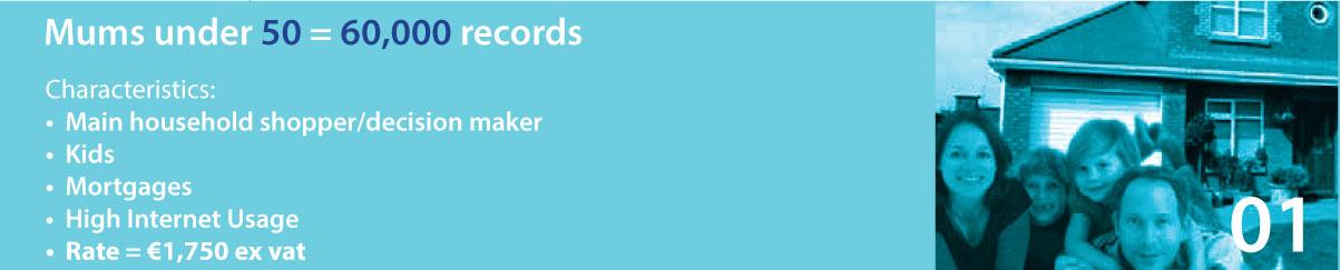 Mums under 50 = 80,000 records