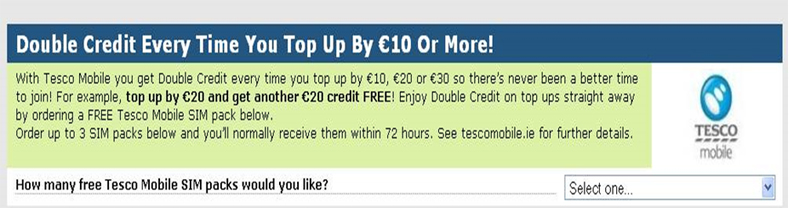 Telco Email lead generation example